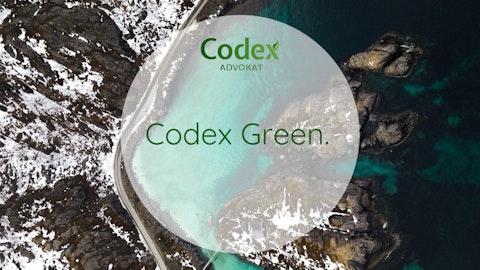 Codex Green toppbanner med norsk kyst i bakgrunnen